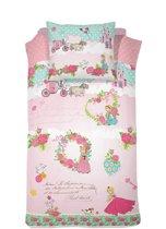 Cinderella Buttercup - Kinderdekbedovertrek - Eenpersoons - 140 x 200 cm - Pink