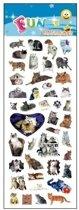 3x Stickervellen katten/poezen - dieren stickers