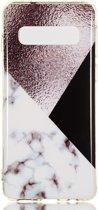 Samsung Galaxy S10 TPU Back Cover met Marmer Print Bruin