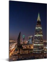 Mooie gebouwen in de stad Riyad Aluminium 120x180 cm - Foto print op Aluminium (metaal wanddecoratie) XXL / Groot formaat!