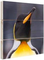 FotoCadeau.nl - Koningspinguin portret Hout 30x20 cm - Foto print op Hout (Wanddecoratie)