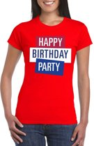 Toppers - Rood Toppers Happy Birthday party dames t-shirt officieel XS