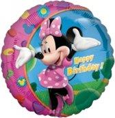Minnie Mouse folie ballon Happy Birthday