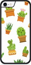 iPhone 8 Hardcase hoesje Happy Cactus