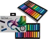 Multicolor haarkrijt / Verkleedhaarkleuring - 24-delig