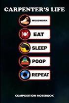 Carpenter's Life Woodwork Eat Sleep Poop Repeat