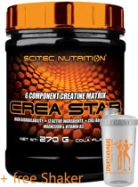 Scitec Nutrition Crea Star - 6 componenten matrix - 270 g poeder - 30 porties - Cola smaak + sportandmore shaker