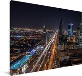 Uitzicht over Riyad Canvas 180x120 cm - Foto print op Canvas schilderij (Wanddecoratie woonkamer / slaapkamer) XXL / Groot formaat!