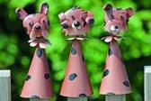 Hondendecoratie met wiebelkop - set van 6 stuks