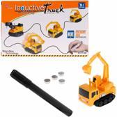 Magische speelgoed auto  - Sensor auto- Inductieve werking - Zelfrijdende graafmachine  - Voertuig speelgoed-  Geel