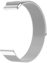 Milanese Loop Armband Voor Samsung Galaxy Watch 46 MM Band Strap - Milanees Armband Polsband - Zilver