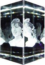 fotokristal 60 x 60 x 90mm 3D
