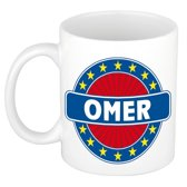 Omer  naam koffie mok / beker 300 ml  - namen mokken