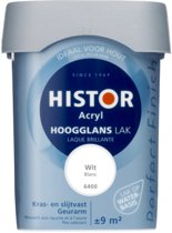Histor Perfect Finish Lak Acryl Hoogglans 0,75 liter - Wit