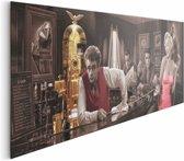 REINDERS Dean Monroe Bogart Presley - Schilderij - 156x52cm