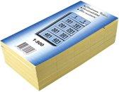 19x Garderobeblokken nummers van 1 t.e.m. 500, blauw