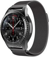 Milanese Loop rvs zwart bandje voor de Samsung Gear S3 | Galaxy watch 46mm SM-R800 Watchbands-shop.nl