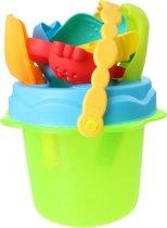 Free And Easy Strandemmerset Beach Toys 12 Cm Groen 8-delig