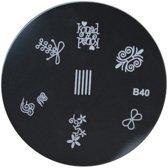 Stamping Plate 40 / nagel stempel- sjabloon
