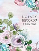 Notary Records Journal: Notary Public Official Records Journal Log Book; Beautiful Floral Cover