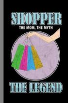 Shopper: Shopping Gift For Shopaholic (6''x9'') Dot Grid Notebook To Write In