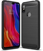 Xiaomi Redmi Note 6 Pro hoesje - Rugged TPU Case - zwart