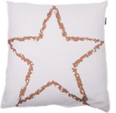In The Mood Star Copper - Sierkussen - 50x50 cm - Ivoor Wit