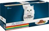 Gourmet Perle Mini Filets - Kip/Konijn/Rund/Zalm - Kattenvoer - 60 x 85 g