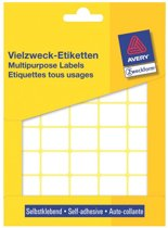 12x Avery Witte etiketten 22x18mm (bxh), 1.200 stuks