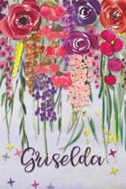 Griselda: Personalized Lined Journal - Colorful Floral Waterfall (Customized Name Gifts)