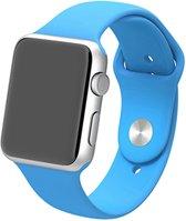 Apple watch 42mm / 44mm rubberen sport bandje - Blauw