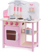 New Classic Toys - Kinderkeuken - Bon Appetit - Roze - Aanrechthoogte is 46 centimeter