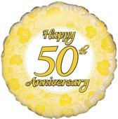 Folie ballon happy 50th anniversary 18 inch (45cm)