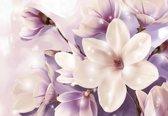 Fotobehang Magnolia Purple | XXL - 312cm x 219cm | 130g/m2 Vlies