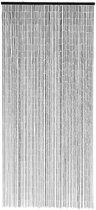 Nordal Deurgordijn Bamboo Curtain zwart 200 x 90