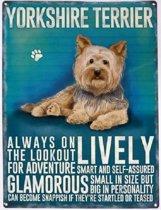 Wandbord - Yorkshire Terrier -30x40cm-