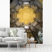 Fotobehang vinyl - Het plafond van het Paleis van Diocletianus in Kroatië breedte 225 cm x hoogte 300 cm - Foto print op behang (in 7 formaten beschikbaar)