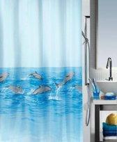 Spirella Nemo Douchegordijn Textiel - 180x200 cm - Blauw