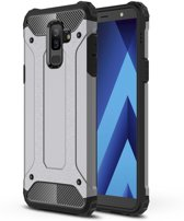 Armor Hybrid Hoesje Samsung Galaxy A6 Plus (2018) - Grijs