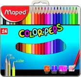Color'peps kleurpotlood - metalen doos x 24