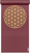 Yogamat basic Flower of Life bordeaux Fitnessmat YOGISTAR