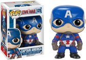 Funko Vinyl POP! figuur nr.125 Captain America Civil War
