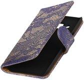 Blauw Lace booktype wallet cover hoesje voor Huawei Y5 II