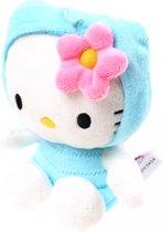 Hello Kitty Knuffel Tuinvrienden Vlinder Pluche Blauw 15 Cm