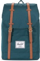 Herschel Supply Co. Retreat Rugzak - Deep Teal / Tan Synthetic Leather