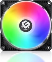 MetallicGear SKIRON MG-F120 D-RGB PWM, 4-Pin High Airflow D-RGB Fan (120mm, Black Fan Frame with Matte White Blades) - Powered by Phanteks