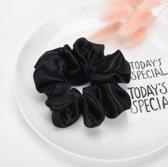 Jumalu scrunchie haarwokkel haarelastiekjes - zwart - 1 stuk