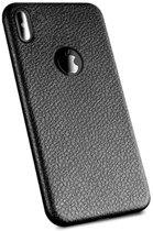 ShieldCase Ultra thin leren iPhone X / Xs + gratis glazen Screenprotector case