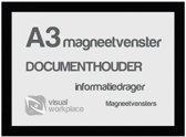 Magneetvenster A3 - Zwart