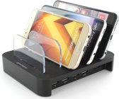 Mobigear Multi Dock 4 USB Poorten Laadstation Zwart